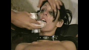 Ballbusting face sitting and painful needle injection in cock