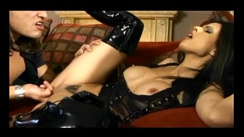 Incredible brunette chicks in latex boots get rammed